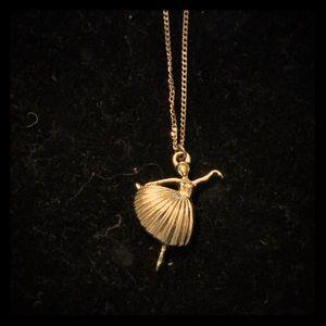 Vintage ballerina necklace